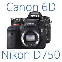 Canon EOS 6D vs Nikon D750